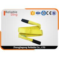 Quality 3 Ton Yellow Polyester Flat Webbing Sling Industrial Rigging Straps From 1m to 12 m for sale