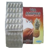 Wholesale Via Ananas Via Pineapple weight loss Fat Burner Diet pills Toxin Eliminator Beauty Skin from china suppliers