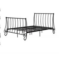 Wholesale Modern European style metal bed, double size with color customized from china suppliers
