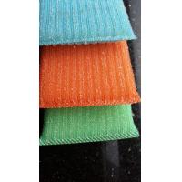 Quality Blue / Green / Orange Scrubbing Sponges By Sponge Fabric / Steel Wire for sale