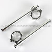 Wholesale 46mm Adjustable Motorcycle Clip On Handlebars ZX6R ZX9R ZRX 1100 1200 CNC Machined from china suppliers