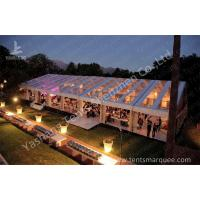Wholesale Outdoors Clear Span Transparent Fabric Top Commercial Party Tent with Linings Decoration from china suppliers