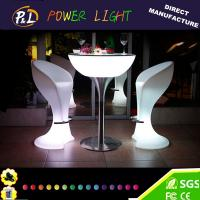 Wholesale RGB Colorful LED Lighted Glowing Plastic Bar Chair from china suppliers