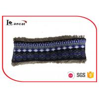 Wholesale Faux Fur Lining Crochet Snood Scarf For Kids , Navy Knit Cowl Scarf from china suppliers