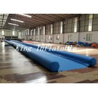 Wholesale Outdoor 50m Long Inflatable Slide The City With Blue Single Lane from china suppliers