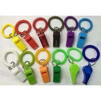 Wholesale Promotional Gift Colorful Best Wrist Strap Coil W/Plastic Whistle from china suppliers