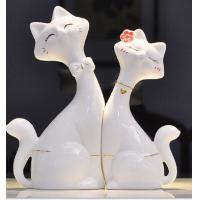 Quality Ceramic cat lovers creative home decoration gift giving white for sale