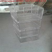 Wholesale Wire Mesh Supermarket Single Handle Shopping Basket/304 Stainless Steel Wire Mesh Baskets from china suppliers