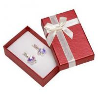 Wholesale Faux Velvet Insert Jewelry Gift Boxes , OEM / ODM Jewelry Box For Pierced Earrings from china suppliers
