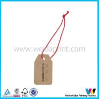 Wholesale Small Brown Kraft Printable Paper Tags with Black Lettering and Red String from china suppliers