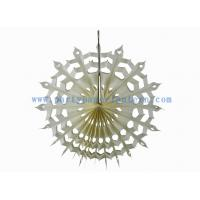 Wholesale Handcrafted 12 Inch Ivory , White Hanging Paper Fans For Wedding Decoration from china suppliers