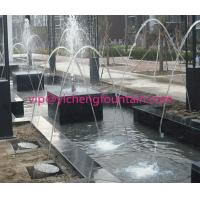 Wholesale Rainbow Glass Light Jet Water Fountain Equipment With LED Light / Stable Soft Spray from china suppliers
