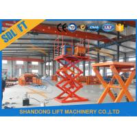 Wholesale 4000mm Lift Height Electric Scissor Lift Table , Hydraulic Scissor Lift For Cargo from china suppliers