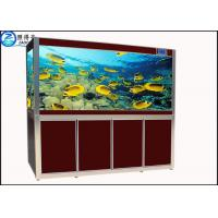 Wholesale Screen Porch Feng Shui Custom Fish Tanks Black / Red Aquarium Goldfish Bowl Ecological from china suppliers