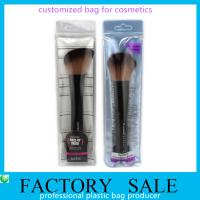 Wholesale Custom Soft Clear Pvc Bags With Zipper , Pvc Packaging Bags For Brush from china suppliers