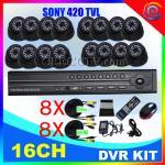 Wholesale OEM dvr kits 16CH DVR IR Cameras H.264 CCTV System CEE-DVR-8216 C035 from china suppliers