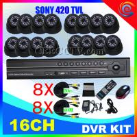 Wholesale OEM dvr kits 16CH DVR IR Cameras H.264 CCTV System CEE-DVR-8216 C035 from china suppliers