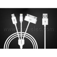 original Pisen 3 in 1 USB cable, Iphone 4(s)USB+Iphone (6, 5) USB+Android