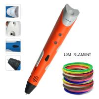 Quality Lightweight 0.7mm Nozzle 3D Doodling Pen 3D Printing Pen With ABS Filament for sale