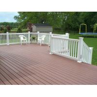 Wholesale Outside Brushed Wood Plastic Composite Railing / WPC Handrails Fire-Resistant from china suppliers