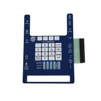 Wholesale Custom Tactile Single Membrane Panel Switch Made PC Gloss Plastic Key from china suppliers