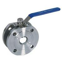 Wholesale Full Bore Flanged 1000 WOG Ball Valve PN16 1 Piece Wafer Type from china suppliers