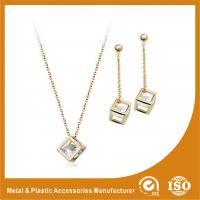Wholesale Personalised Fashion Diamond Zinc Alloy Jewelry Sets For Women from china suppliers
