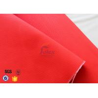 Wholesale Anti Acid 480gsm 0.45mm Fiberglass Fire Blanket Red With Acrylic Coated from china suppliers