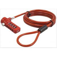 Quality Bright Color Tablet Security Cable Lock / Laptop Combination Lock 1 - 1.5m Length for sale