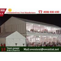 Wholesale Waterproof Advertising Double Decker Tent 25m With ABS Wall Clear Window from china suppliers