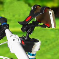 Wholesale Black / White Universal Bike Mobile Phone Holder for iPhone 5S , Bicycle Handlebar Flexible Holder from china suppliers