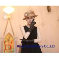 China 3 Layers 100% Natural Ladies Sinamay Hats For Special Occasion on sale