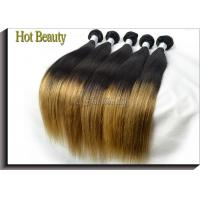 Wholesale 5A Peruvian Human Hair Extensions Ombre , Silk Straight Hair Weft from china suppliers