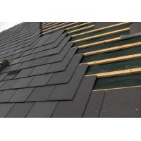 Wholesale Ink Black Slate Roof Tiles Chinese Weathering Roof Slate Split Surface Chipped Edges from china suppliers
