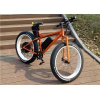 Wholesale Orange / Green Shimano 7 Speed 25kph Electric Fat Bicycle For Sandy Beach 36v 250w from china suppliers