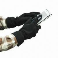 Wholesale Touch Screen Gloves with 100% Polyester Lining, Available in Various Sizes from china suppliers