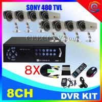 Wholesale 8 CH CCTV DVR Kit 8 IR Cameras H.264 CCTV System CEE-DVR-7008 C910 from china suppliers