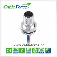 Wholesale M12 3PIN Male Circular Cable Connectors Panel Mount Front Mounting For Sensor from china suppliers