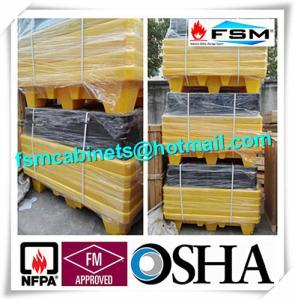 Wholesale Four Drum Spill Containment Pallets , HDPE Oil Drum Containment Pallet Stackable from china suppliers