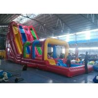 Wholesale Outdoor Commercial Inflatable Slide , Three Lanes Inflatable Slide For Kids And Adults from china suppliers