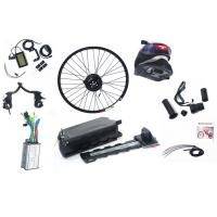Quality Sliver White / Black 250w Electric Bike Kit With 36v 10ah Rack Battery for sale
