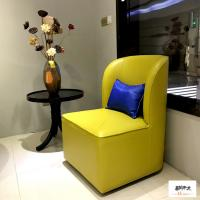 Wholesale Yellow Linen Fabric Wooden Club Chair Fantastic Style Comfortable from china suppliers