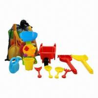 Buy cheap 10-piece Kids' Beach Toys, 2 Pieces Sand Shovels/4 Pieces Mini Sand Tools/1 Piece Windhill/1 Bucket from wholesalers