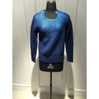 Wholesale Ladies Crew Neck Floral Print Sweater 90% Wool 10% Cashmere Material from china suppliers