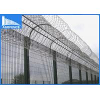 Wholesale High Security Galvanized Razor Barbed Wire With 400 - 900mm Coil Diameter from china suppliers