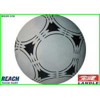 Wholesale Professional Size 3 Rubber Footballs , Awesome White and Black Soccer Ball from china suppliers