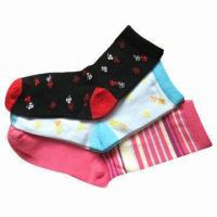 Wholesale Children's Socks, Made of Cotton and Spandex, with Jacquard Knitting from china suppliers