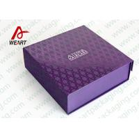 Wholesale UV Varnish Automatic Purple Gift Foldable Paper Boxes With Lids from china suppliers
