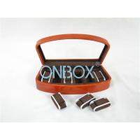 Quality Brown High Gloss Wooden Watch Collection Case With Luxury Adjustable Pillows for sale