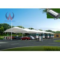 Wholesale Durable Car Parking Umbrellas Metal Fabric Carport , Side Support Residential Shade Structures from china suppliers